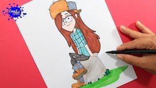 getlinkyoutube.com-HOW TO DRAW WENDY GRAVITY FALLS l  Como dibujar a wendyl  how to draw cartoon