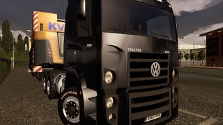 getlinkyoutube.com-Viagem de Volkswagen Constellation - ETS 2 - Wien/Innsbruck - KVN Kran trailer.  - HD