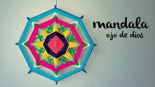getlinkyoutube.com-MANDALA TEJIDO | Ojo de Dios (ENGLISH SUB) | tutorial paso a paso AHUYAMA CROCHET