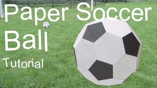 getlinkyoutube.com-Paper Soccer Ball Tutorial