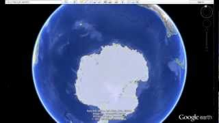 """getlinkyoutube.com-14 mile long """"THING"""" buried in Antarctica? - how to find using Google Earth"""