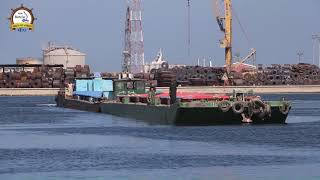 تفعيلاً لتنشيط منظومة النقل النهري .. ميناء دمياط ينقل شحنة من القمح إلى صوامع إمبابه عبر نهر النيل