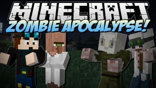 getlinkyoutube.com-Minecraft | ZOMBIE APOCALYPSE! (Will You Survive?!) | Mod Showcase [1.6.4]