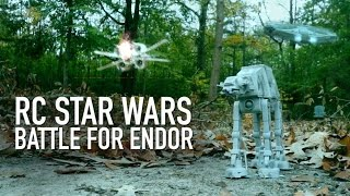getlinkyoutube.com-RC STAR WARS Battle For Endor: AT-AT Walker Takedown