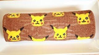 getlinkyoutube.com-PIKACHU CHOCOLATE ROLL CAKE - NERDY NUMMIES