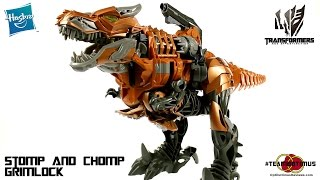 getlinkyoutube.com-Video Review of the Transformers Age of Extinction: Stomp and Chomp Grimlock