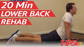 getlinkyoutube.com-20 Min Lower Back Rehab - HASfit Lower Back Stretches for Lower Back Pain Exercises Workouts