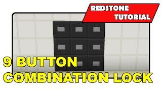 "9 Button Combination Lock [Unlimited] ""Redstone Tutorial"" (Minecraft Xbox/PlayStation/PS Vita)"