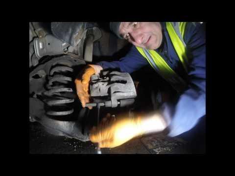 Замена задних тормозных колодок Volvo