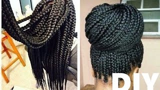 getlinkyoutube.com-How to Box Braids | CROCHET METHOD