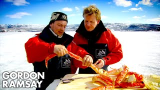 getlinkyoutube.com-Catching and Cooking King Crab - Gordon Ramsay