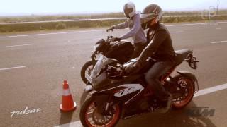 getlinkyoutube.com-Pulsar 200 NS vs KTM Rc 200 Drag