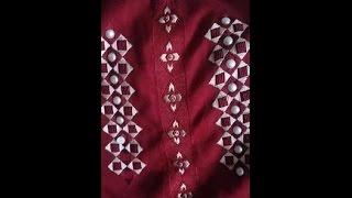 getlinkyoutube.com-كيفية طرز في جلابة  مع ام عمران Embroidery