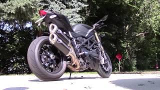 getlinkyoutube.com-Ducati Streetfighter 848 Exhaust: Stock vs. Termignoni