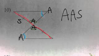 Using SSS, SAS, ASA, AAS, and HL to prove two triangles are congruent