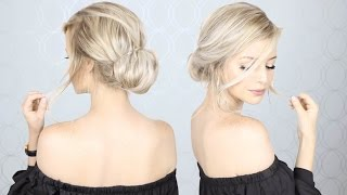 getlinkyoutube.com-Super Simple Updo | Perfect for Long, Medium, AND Short hair
