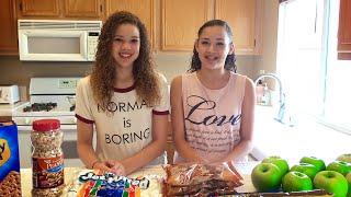 getlinkyoutube.com-Chocolate Caramel Candy Apples DIY Recipe!!  (Haschak Sisters)