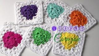 getlinkyoutube.com-Cómo hacer un Granny Square Corazón en crochet