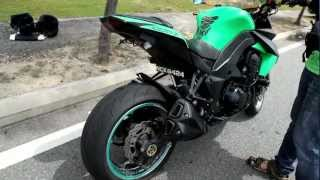 getlinkyoutube.com-Kawasaki Z1000 Exhaust Louder Than Truck!