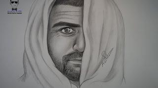 getlinkyoutube.com-كيفية رسم بورتريه لرجل بلحية خفيفية - ذقن مع الخطوات للمبتدئين