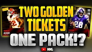 getlinkyoutube.com-The Single Greatest Pack Ever. TWO Golden Tickets in ONE Pack! Madden Mobile 16