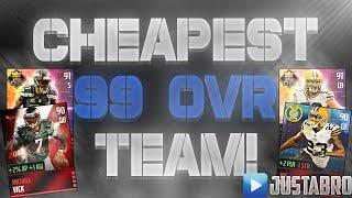getlinkyoutube.com-BEST CHEAP 99 Overall Team For 100% Season Score! - Madden Mobile 16