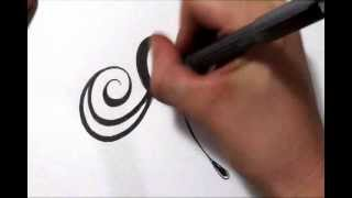 Drawing A Fancy Cursive Initial Design   Letter A