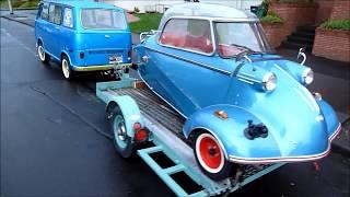 getlinkyoutube.com-Subaru 360 Van ( towing compilation )