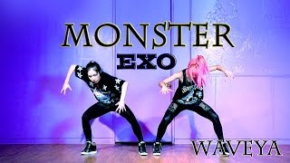 getlinkyoutube.com-EXO_Monster_Dance Practice ver.WAVEYA 웨이브야