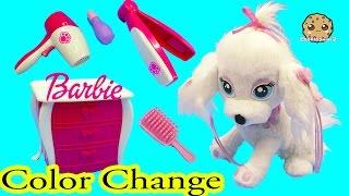 getlinkyoutube.com-Color Change Puppy Dog Nail, Hair, Makeup Fail Barbie Pampered Pups Salon - Cookieswirlc