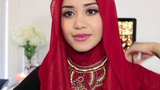 getlinkyoutube.com-Hijab Tutorial - Easy Way to Wear Necklace
