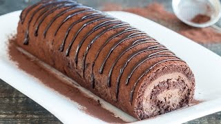 getlinkyoutube.com-Chocolate Swiss Roll Recipe