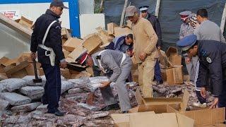 getlinkyoutube.com-الدرك الملكي تحجز 4 أطنان من مخدر الشيرا أولاد تايمة