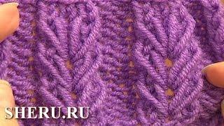 getlinkyoutube.com-Knitting Wheat Ear Stitch Урок 6 Вязаный узор спицами