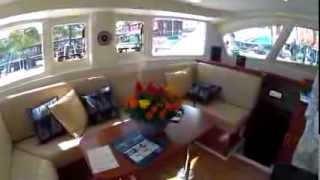 getlinkyoutube.com-Leopard 39 Catamaran toured at Annapolis Spring Show 2012 by ABKvideo