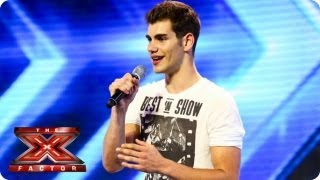 getlinkyoutube.com-Alejandro sings Hero by Enrique Iglesias - Arena Auditions Week 1 - The X Factor 2013