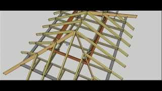 getlinkyoutube.com-Hip Roof Erection Procedure