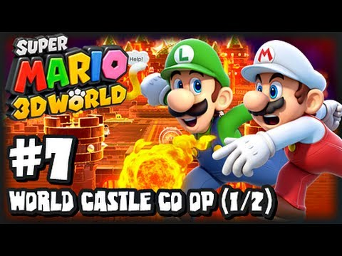 Super Mario 3d World Wii U - 1080p Co-op Part 7 - World Ca