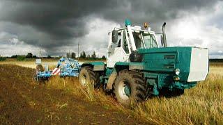 getlinkyoutube.com-XTZ T-150K tractor with v8 Jamz 238 engine + Lemken Rubin 9/400 KU