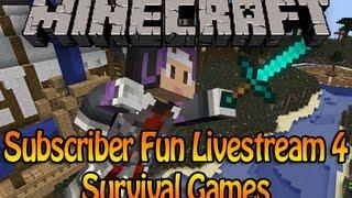 getlinkyoutube.com-Minecraft Subscriber Fun Livestream 4 - Survival Games /w Podcrash