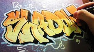 getlinkyoutube.com-Shadow Graffiti Canvas Speed Art