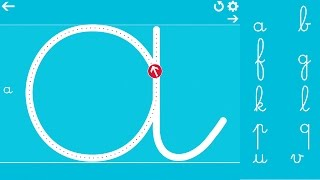 getlinkyoutube.com-Cursive Writing Wizard – Trace Letters & Words - All Lowercase Letters