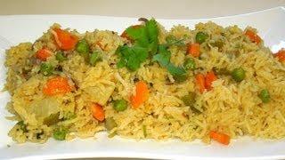 getlinkyoutube.com-Vegetable Rice (pulav/pulao) in MICROWAVE By Recipe house