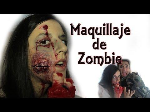 Maquillaje de caracterización (Zombie) + Vídeo Final - ESPECIAL Halloween (Experimentos Caseros)