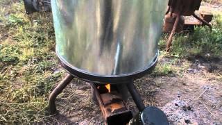 getlinkyoutube.com-Печь на отработке масло с водой что будет.