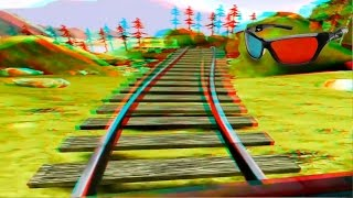 Best Anaglyph 3D Roller Coaster VIDEO 3D RED/CYAN Full HD 1080p
