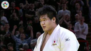 getlinkyoutube.com-Judo Grand Slam in Paris 2011: Final +100kg Riner Teddy - Kamikawa Daiki