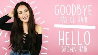 I DYED MY HAIR BROWN | by tashaleelyn