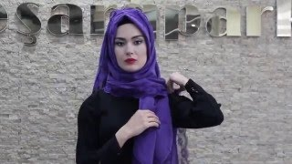 getlinkyoutube.com-Eşarppark | Coton Dantelli Şal Bağlama Tekniği