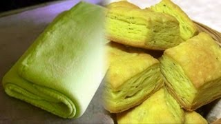 getlinkyoutube.com-Homemade Puff Pastry - Pate Feuilletee - Khari Biscuit Video Recipe by Bhavna